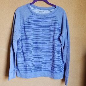 Eddie Bauer striped sweatshirt size medium